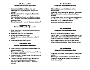 The Bronze Bow Chapter Discussion Questions