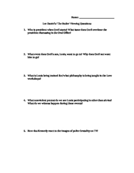 The Butler Viewing Questions