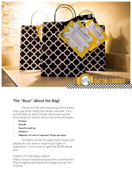 The Buzz about me Bag tag