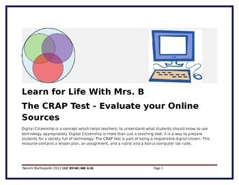 The CRAP Test - Evaluating Online Sources
