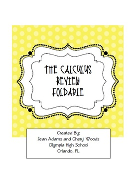 Calculus: Review Foldable