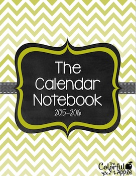 The Calendar Notebook ~ Blue & Orange