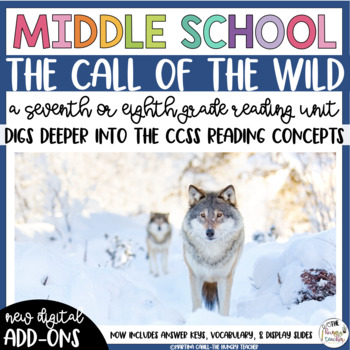 The Call of the Wild Reading Unit Novel Study (7th and 8th