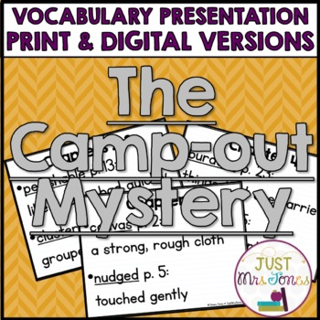 The Camp-Out Mystery Vocabulary Presentation