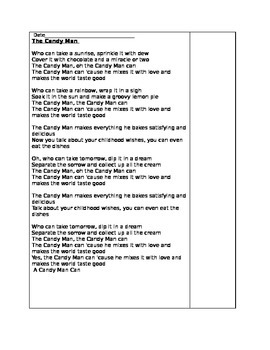 The Candy Man Can - A Close Reading of Song Lyrics