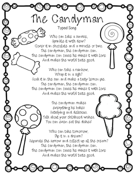 The Candyman Can Typed Song