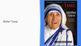 The Canonization of Saint Mother Teresa