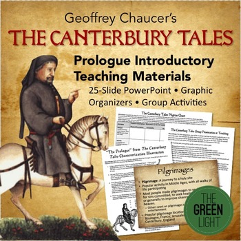 The Canterbury Tales Prologue Worksheets, Projects, PowerPoint