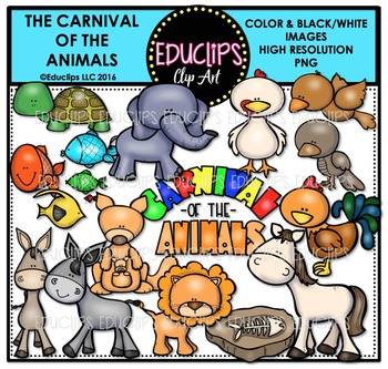 The Carnival Of The Animals Clip Art Bundle