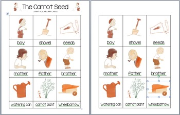 The Carrot Seed - Nomenclature (3-Part) Cards