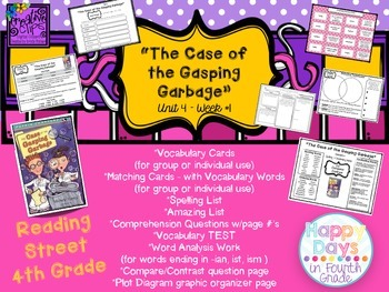 """""""The Case of the Gasping Garbage"""" - {Reading Street 4th Gr"""
