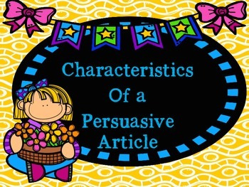 The Case of the Missing Bees Persuasive Article Elements P