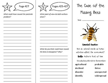 The Case of the Missing Bees Trifold - Wonders 5th Grade U