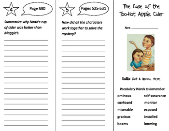 The Case of the Too Hot Apple Cider Trifold - Storytown 4t