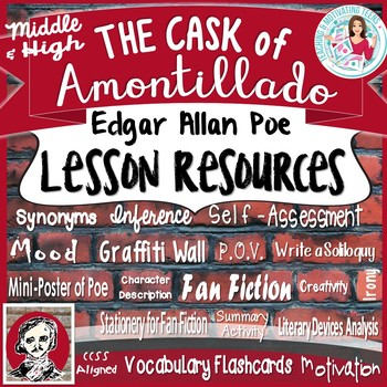 """""""The Cask of Amontillado"""" by Edgar Allan Poe - Lessons for"""