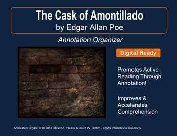 """Cask of Amontillado"" by Edgar Allan Poe: Annotation Organizer"