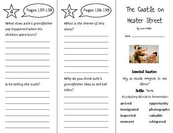 The Castle on Hester Street Trifold - Wonders 3rd Grade Un