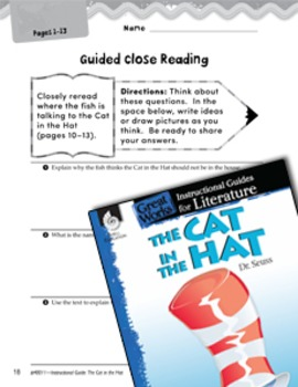 The Cat in the Hat Close Reading and Text-Dependent Questions