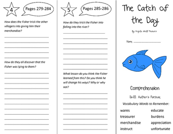 The Catch of the Day Trifold - California Treasures 5th Gr