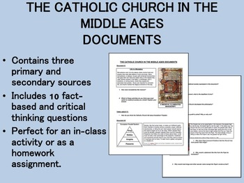 The Catholic Church in the Middle Ages Documents - Global/