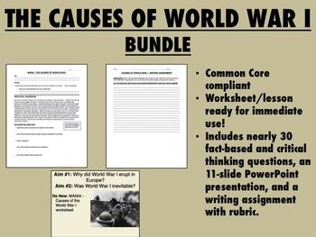 The Causes of World War I Bundle - Global/World History Co