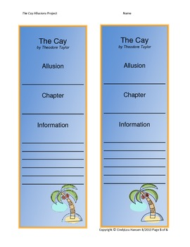 The Cay Allusions Project