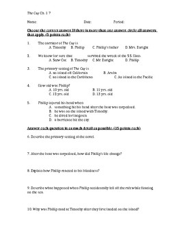 The Cay Chapters 1-7 Quiz