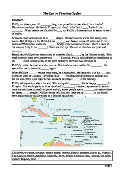 The Cay - Summary Cloze Test