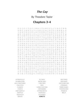 The Cay Vocabulary Word Search- Chapters 3-4