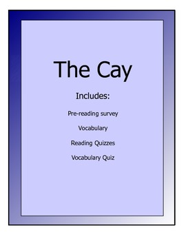 The Cay lesson packet - vocabulary, reading quizzes, pre-r