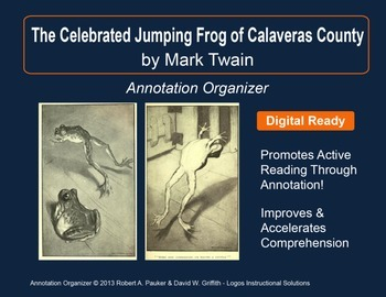 """The Celebrated Jumping Frog . . ."" by Mark Twain: Annotat"