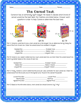 The Cereal Task