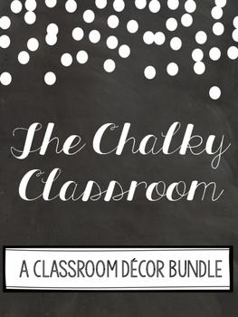 The Chalkboard Classroom Decor Set