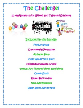 The Challenge- 10 Projects and Activities for Gifted and T