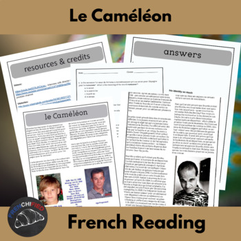 The Chameleon - a reading for int/adv French learners
