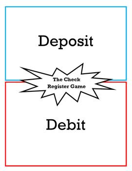 Check Register Game (Writing Checks, Deposits and Balancin