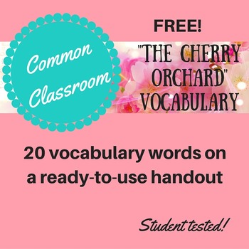 The Cherry Orchard Vocabulary