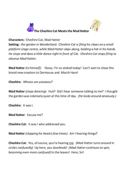 Play for Children:  The Cheshire Cat Meets the Mad Hatter