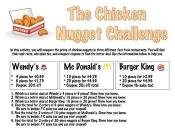 The Chicken Nugget Challenge!