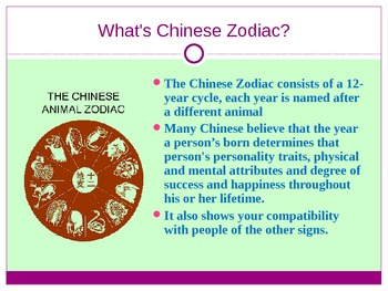 The Chinese Zodiac (PowerPoint)