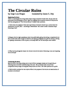 The Circular Ruins - Borges - 16 study guide questions