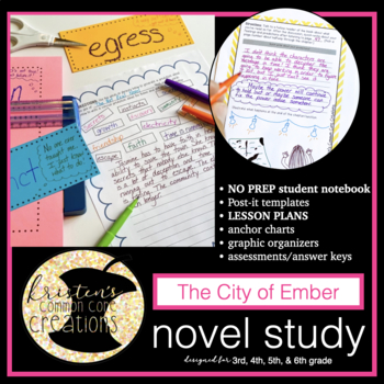 The City of Ember 99 Page Novel Study Student Workbook Les
