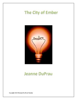 The City of Ember Novel Study Guide