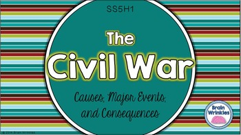 The Civil War: Causes, Major Events, and Consequences (SS5H1)