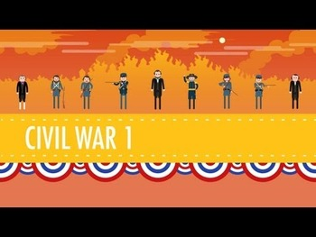 The Civil War, Parts 1 and 2: Crash Course US History #'s 20 &21