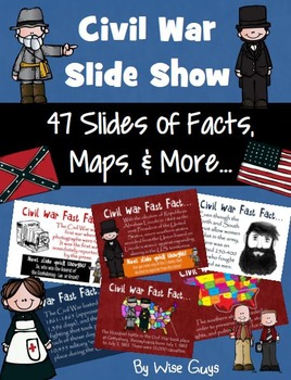 Civil War Facts Statistics Quotes PowerPoint Activity