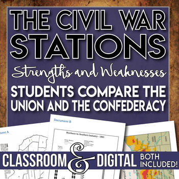 Strengths and Weaknesses Stations Activity The Civil War G