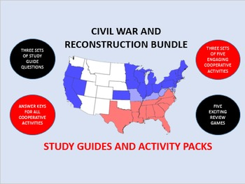 The Civil War and Reconstruction Bundle: Study Guides and