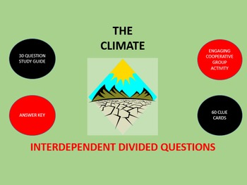The Climate:  Interdependent Divided Questions Activity