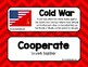 Cold War Word Wall